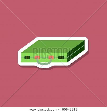 paper sticker on stylish background Business case