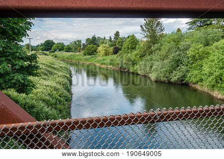 A view of the Green River in Kent Washington.