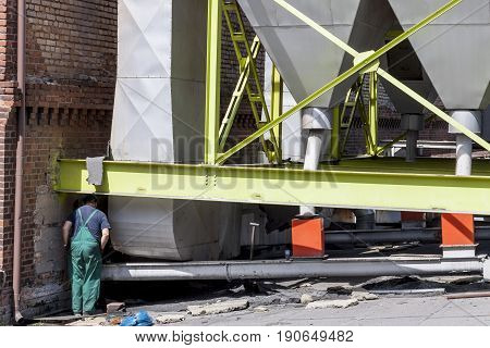 Fumes channel - coal power station of sugar refinery Poland