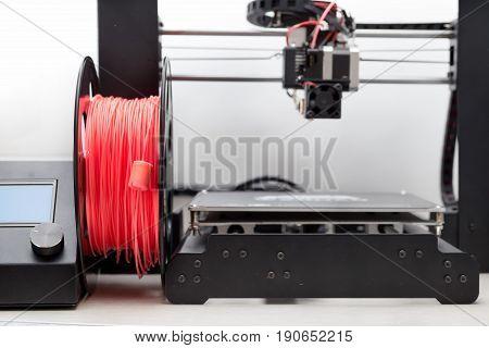 filament. 3d Printer with a color plastic.