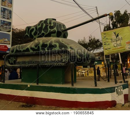 Tank monument in the center of Hargeisa - 09.01.2016 Somalia