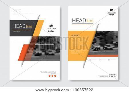 Template Design Brochure, Annual Report, Magazine, Poster, Corporate Presentation, Portfolio, Flyer With Copy Space Vector Illustration