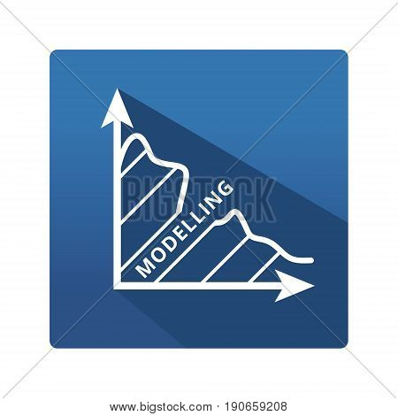 Modeling icon. Modeling icon in trendy flat style on blue background. Pictogram for your web site design, logo, app. Vector illustration, EPS10