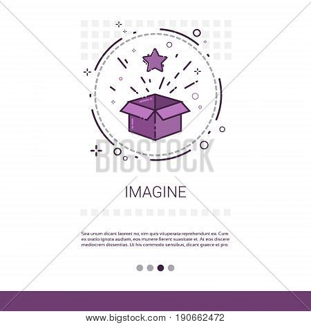 Imagine New Idea Inspiration Creative Process Business Web Banner With Copy Space Vector Illustration