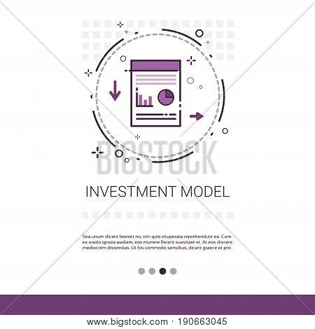 Investment Model Recoverable Lending Business Resources Web Banner With Copy Space Vector Illustration