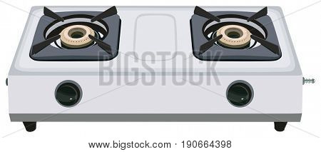 Gas Stove on isolated background kitchen home appliance
