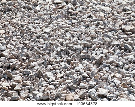 Gravel on a country road. Textured background