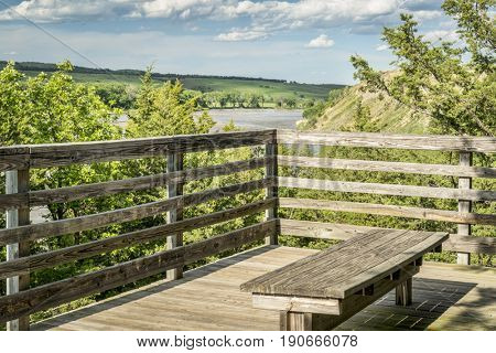 Scenic overlook of Niobrara RIver in Nebraska Sandhills - Fred Thomas Wildlife Management Area