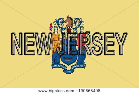Flag Of New Jersey Word