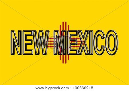 Flag Of New Mexico Word