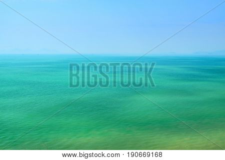 blue sky and green sea
