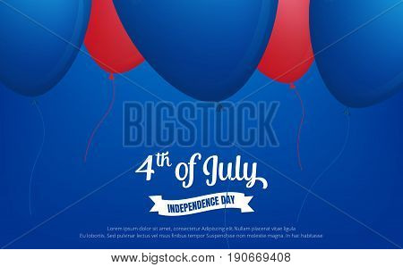 4th of July. Fourth of July holiday banner. USA Independence Day banner for sale, discount, advertisement, web etc