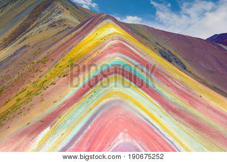 Vinicunca, Montana de Siete Colores, or Rainbow Mountain, Pitumarca Peru
