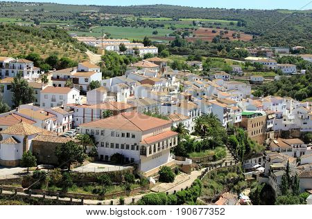 View of Olvera town, Pueblos blancos, Andalusia, Spain