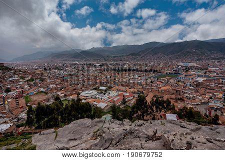 Panoranic view of Cusco Heritage site Peru