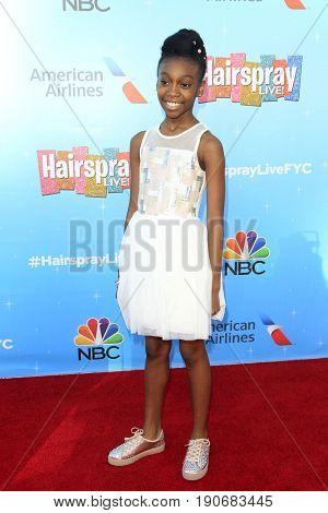 LOS ANGELES - JUN 9:  Shahadi Wright Joseph at the NBC's 'Hairspray Live!' FYC Event at the ATAS Saban Media Center on June 9, 2017 in North Hollywood, CA