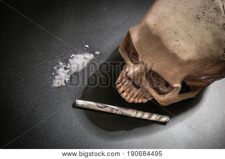 Drug Cocaine of the dead image Symbolic