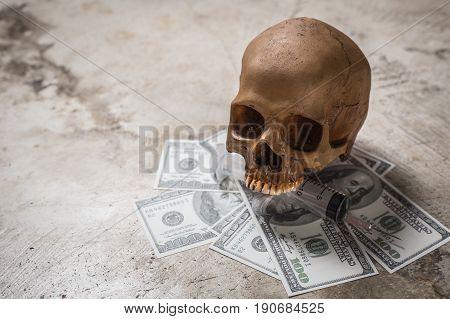 Drug Cocaine of the dead image Symbolic