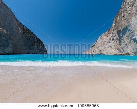 The famous Shipwreck beach Zakynthos Greece