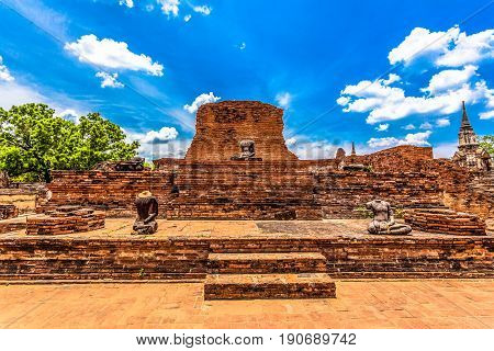 Ruins Of Temples In Ayutthaya Period