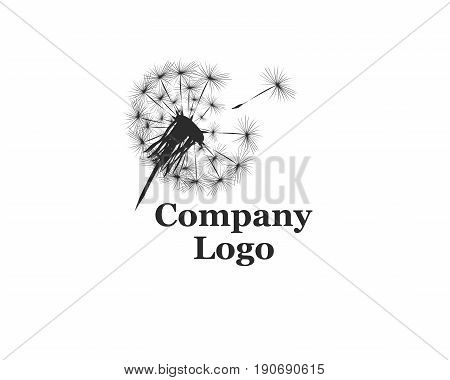 Company Logo with dandelion on a white background