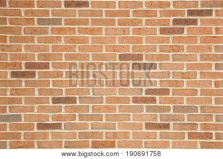 Orange brick wall background. Modern stonewall in boston.