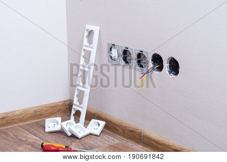 Installation Of Electrical Outlets