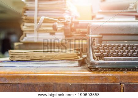 Typewriter Antique Vintage Style And Old Documents