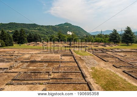 The ancient roman city of Libarna in Piedmont