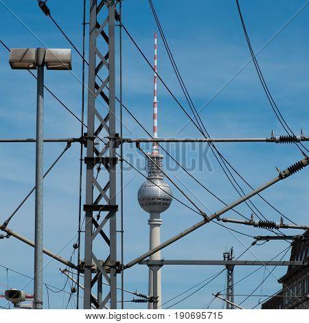 The Tv Tower In Berlin, Germany -  Fernsehturm
