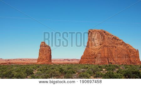 Interesting rock formations right by U.S. Highway 191 on Navajo Reservation land at Rock Point Arizona
