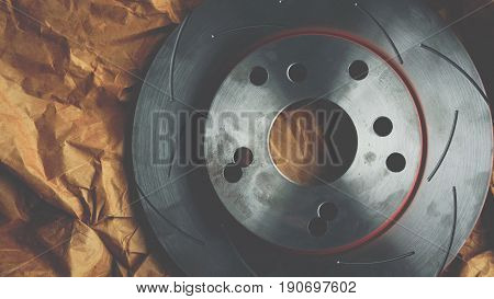 Disc Brake It's A Part Of Car Use For Stop The Car