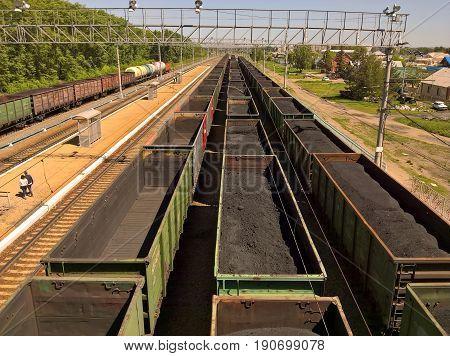 It's a train station Linevo, Novosibirsk region.