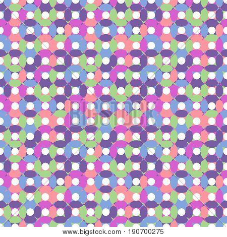 Unusual Seamless Pattern Made Of Round Shapes In Different Pastel Colors
