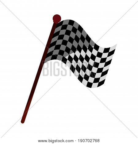racing flag flat illustration icon vector design graphic shadow