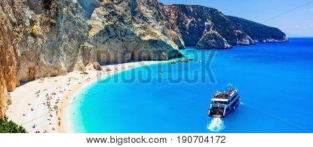 Porto Katsiki  - one of the most beautiful beaches of Greece, Lefkada, Ionia islands