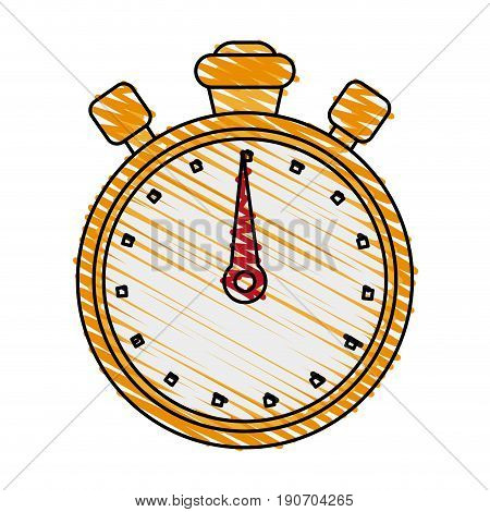 chronometer doodle illustration icon vector design graphic
