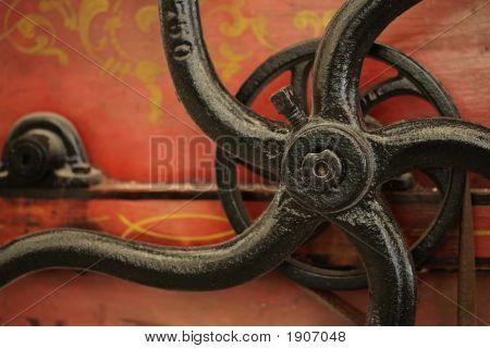 Old Machine Handle Detail