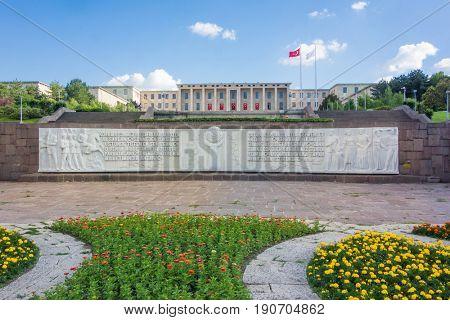 The Grand National Assembly of Turkey  or Parliament of Turkey in Ankara, Turkey