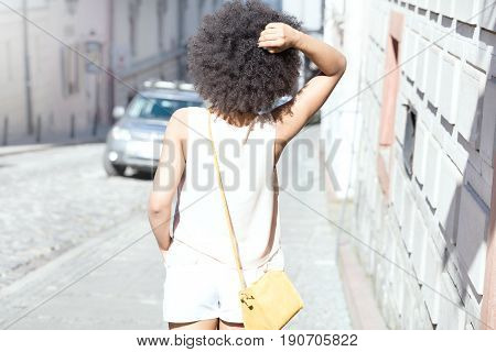 Girl With Afro Posing.