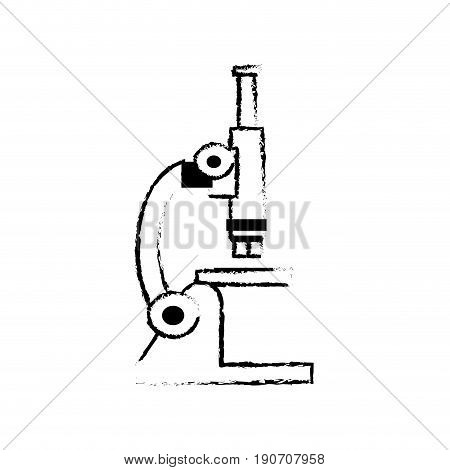 sketch microscope laboratory test sample science vector illustration