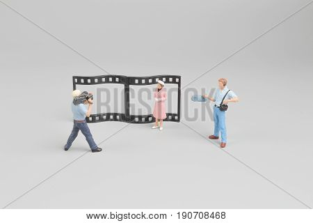 Figure Of  Movie Making Of Film Back Ground