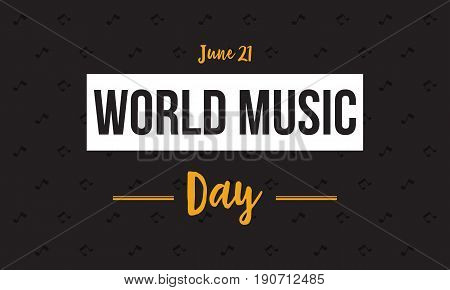 Banner style world music day vector flat collection