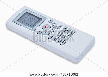 single air remote control on white background
