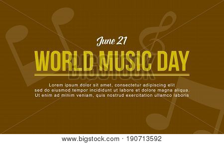 Vector art world music day style collection background