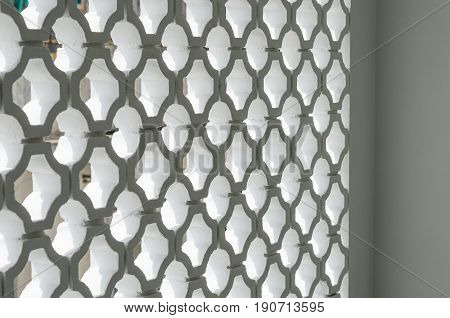 Circle block wall facade pattern. Interior modern design