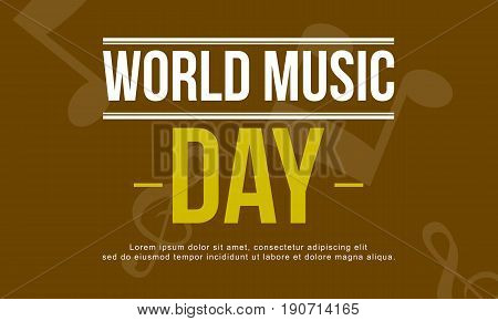 World music day vector art illustration collection