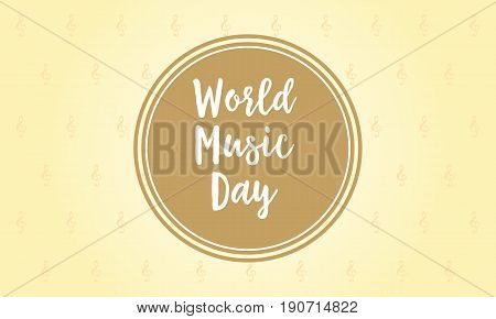 Illustration background for world music day collection