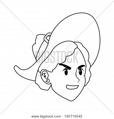 character man pirate suit hat costume halloween vector illustration