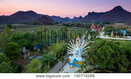 Bodhisattva Statue With 24 Hands